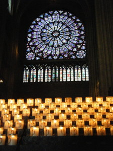 Inside Notre Dame Cathedral, Paris