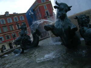 Fountain in Nice, France