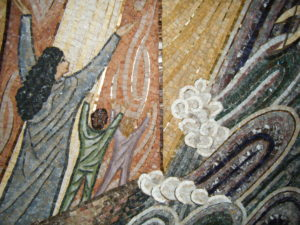 Mosaic image in a church in Monte Carlo